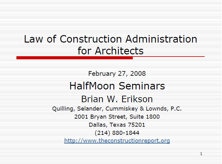 construction contract administration practice guide
